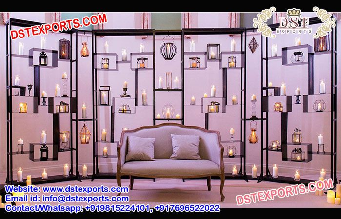Alluring Metal Candle Walls Dstexports These Candle Back Walls Are Made Of Metal And Fiberglass Framing These Bac Frame Decor Backdrop Frame Wall Candles