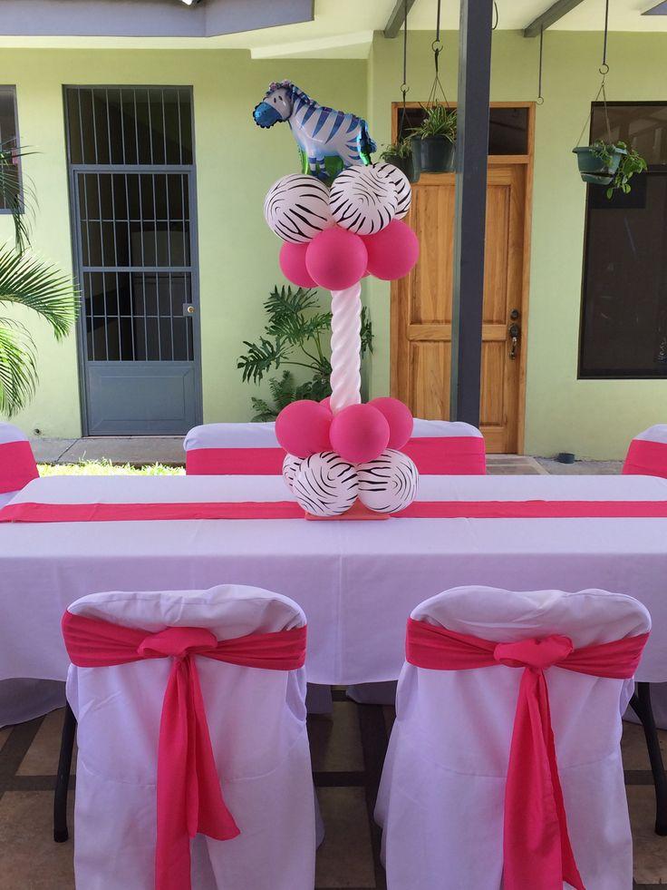 Bikini cebra con rosa
