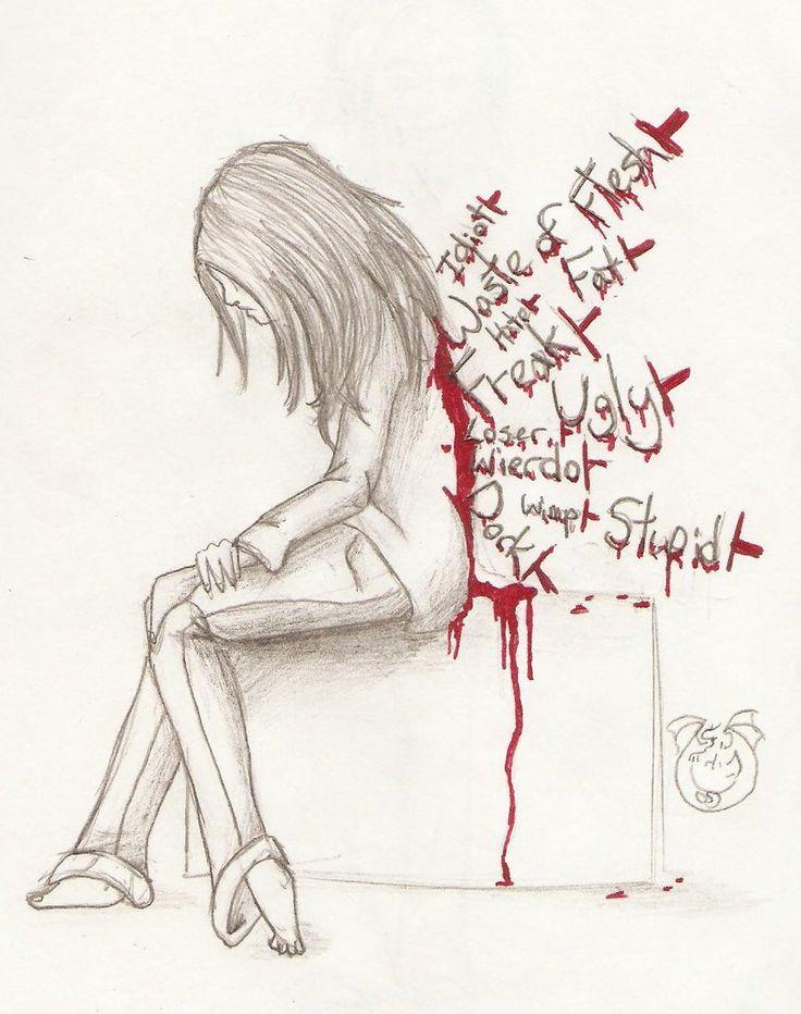 ~Sticks and stones may brake my bones, but words will rip my skin apart~ #Stopbullying!