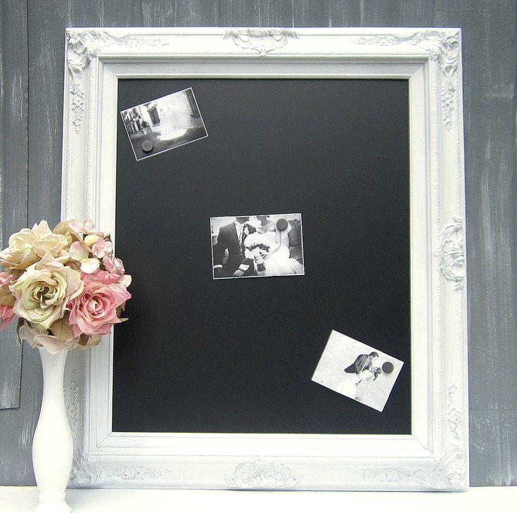 Decorative Chalkboards For Home: DECORATIVE FRAMED CHALKBOARD For Home Magnetic Large