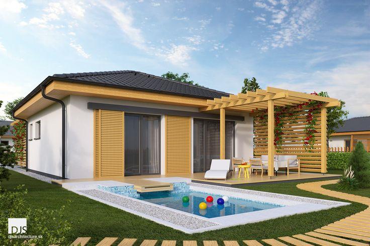 Projekt domu - O50 - Pohľad zo záhrady