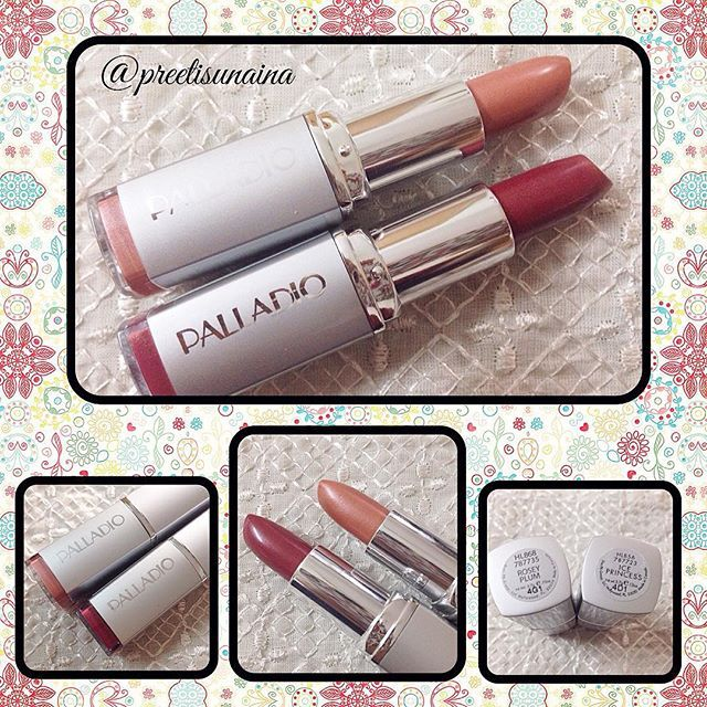 Love these @palladiobeauty lipsticks in #IcePrincess and #RoseyPlum .They smell delumptious, the colours are gorgeous and they make my lips smoother and softer which is not something I ever thought I would say about a lipstick. I got them in my @thefabbag bags and am so thrilled that I have won another one in the September #InMyFabBag contest. Looking forward to adding it to my collection. Thank you so much, @thefabbag . You made my day  #preetisunaina
