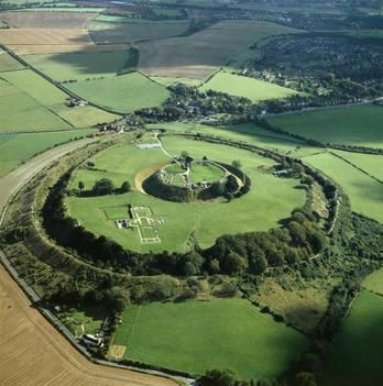 Old Sarum.  England  Click further in for some interesting info on Ley lines and Salisbury.