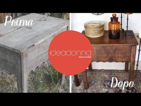 Le Idee di Casamia: Recupero e restauro mobili - prima puntata - YouTube