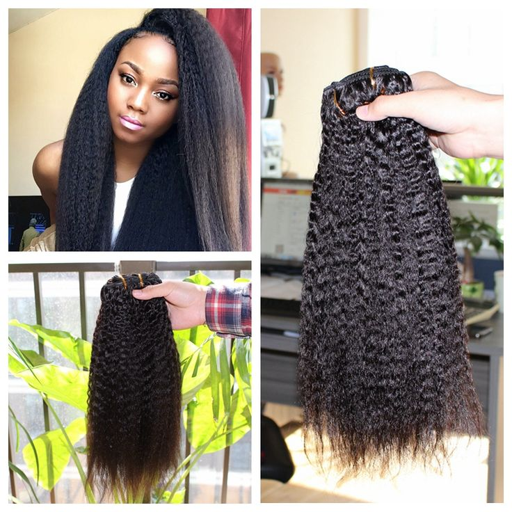 91 best clip in human hair extension images on pinterest wigs hot sale yaki straight clip in human hair extensions natural black brazilian virgin remy human hair clips ins for black women pmusecretfo Choice Image