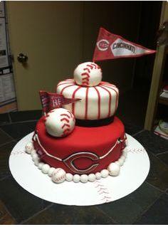 58 best Cincinnati Reds Cakes images on Pinterest Cincinnati