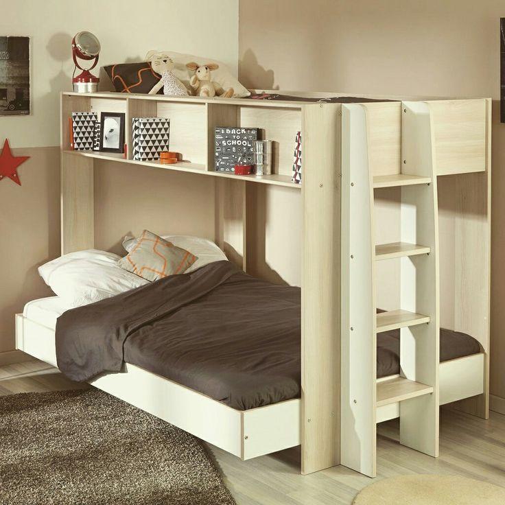 kinderbetten niedrige etagenbetten etagenbett mit treppe schlafzimmer zwillinge - Hausgemachte Etagenbetten Fr Mdchen