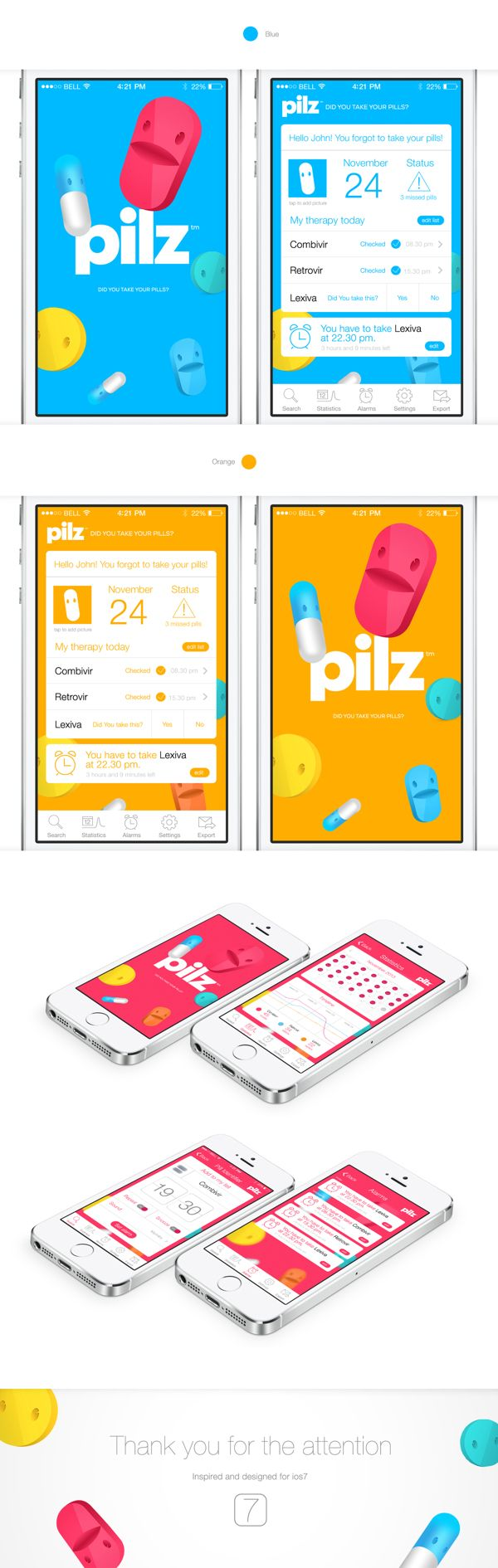 Pilz | iphone app by Kaloyan Rusinov, via Behance