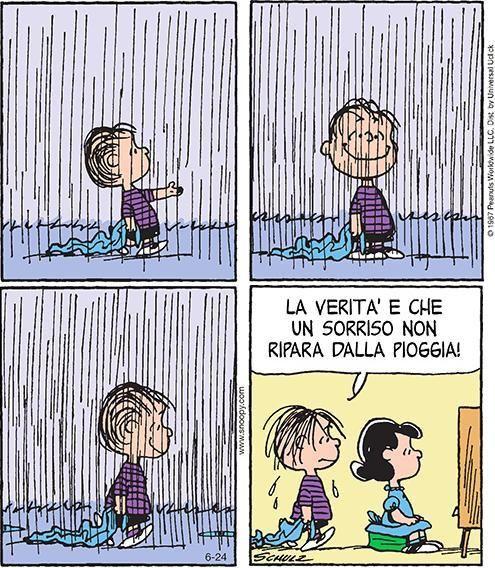 La Verità è Che Un Sorriso Non Ripara Dalla Pioggia.