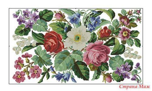"""Схема """"Викторианские цветы"""""""