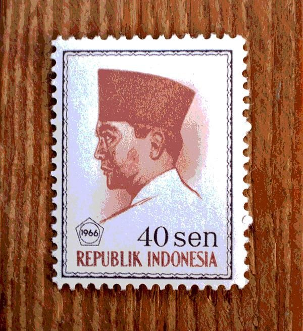 Vintage Indonesia Stamp Photograph by Deena Stoddard - Vintage Indonesia Stamp Fine Art Prints and Posters for Sale fineartamerica.com