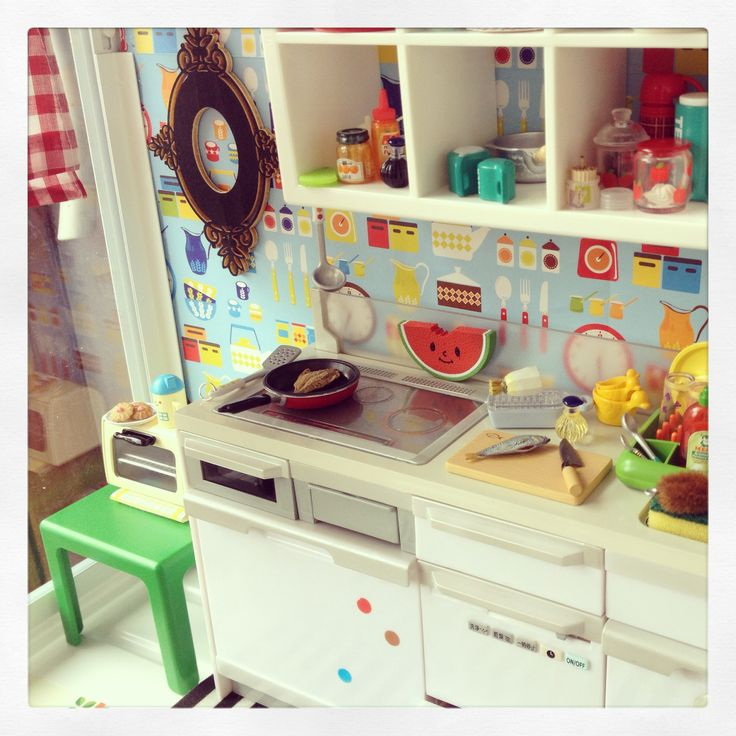 Re Ment Kitchen Set: Re-ment Set-up In An Ikea Greenhouse:) By 2smartminiatures