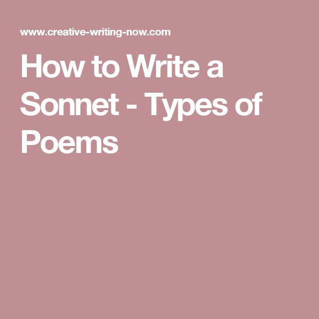 how to write a sonnet step by step