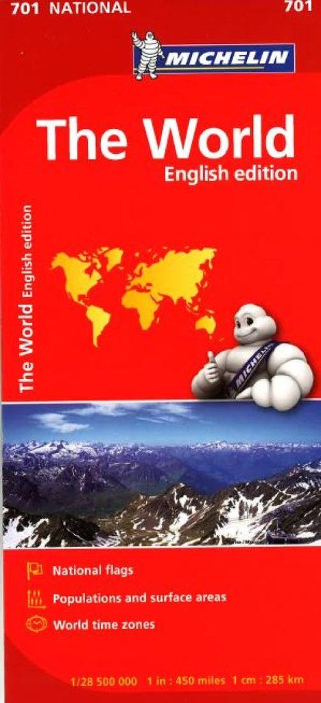 Buy map: World, Political with Flags (701) by Michelin Maps and Guides – YellowMaps Map Store