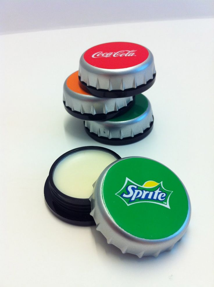 Bonne Bell lip balm in soda flavors and a soda cap container!