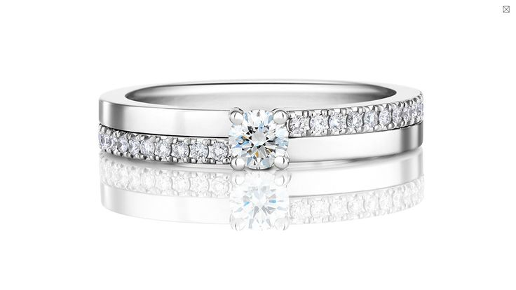 De Beers The Promise 18 platinum diamond ring