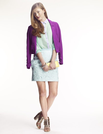 Look feminino produzido pelo editor da Esquire, Gareth Scourfield, para a Elle UK