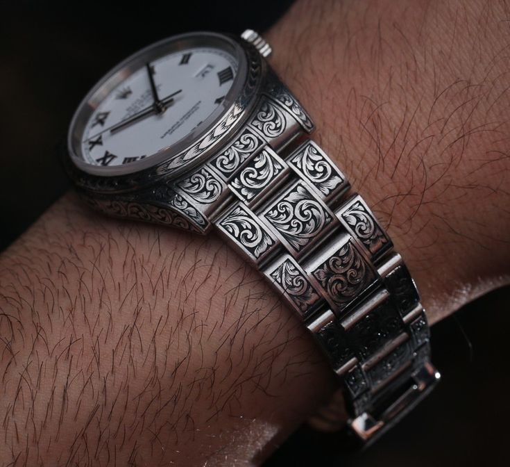 Madeworn american hand engraved rolex engraved watches pinterest rolex watches oyster for Watches engraved