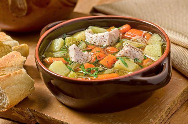 Leftover turkey stew