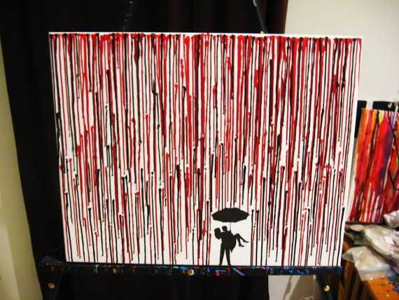 Handmade Encaustic Wax Painting  Melted Crayon Art  by FembyDesign, $50.00