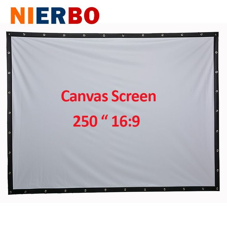 Factory sales 250 inch 16:9 Projector HD Screen Portable Folded Front projection screen fabric with eyelets without Frame //Price: $208.85//     #electonics