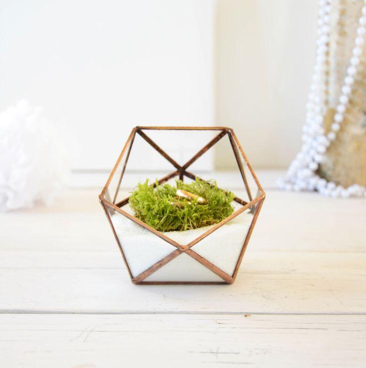 Wedding Ring Holder - Wedding Ring Box - Mini Glass Geometric Box by NojaGlassDesign on Etsy https://www.etsy.com/listing/265478488/wedding-ring-holder-wedding-ring-box