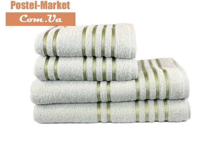 Купить Махровое полотенце LINE оливковое Izzihome в интернет магазине Постель Маркет ( Киев, Украина )