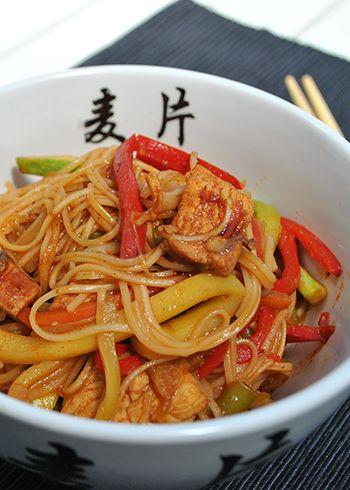 Kineski rezanci sa piletinom i povrćem