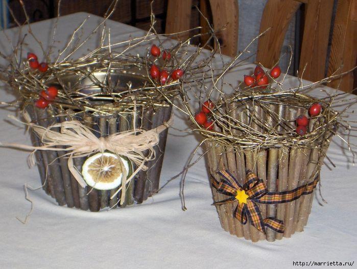 Декор цветочных горшков веточками (1) (700x527, 330Kb)