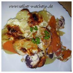 Selber-Macherin: Einfacher Kartoffelauflauf mit Süßkartoffeln, vegetarisch
