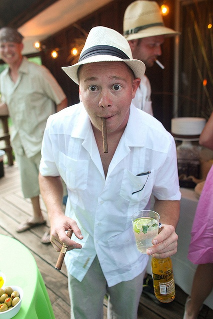 Havana Nights Engagement party idea. Guayaberas, tobacco, hats and rum!