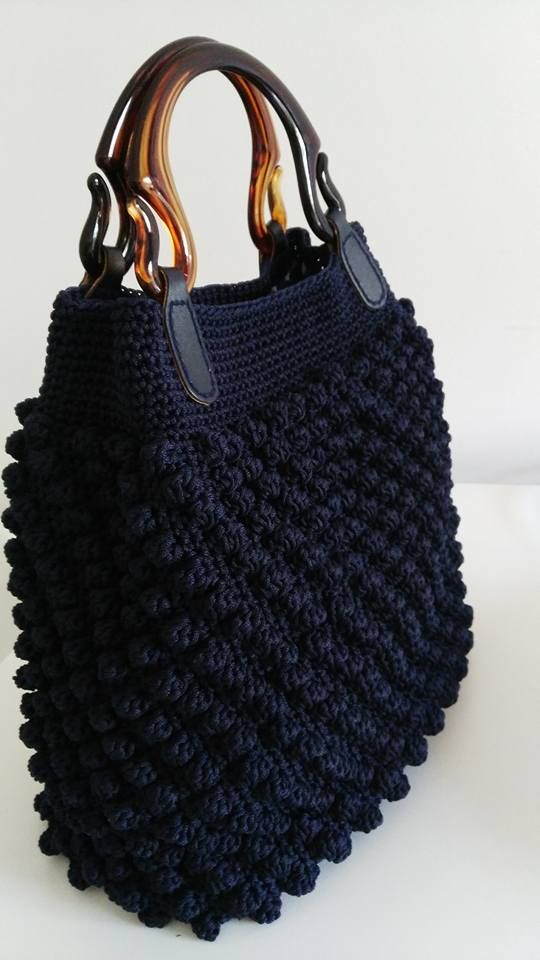 Stylish crochet bag More Clothing, Shoes & Jewelry : Women : handbags and purses for women amzn.to/2j9CmhZ - Crocheting Journal