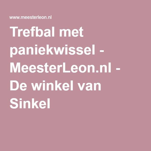 Trefbal met paniekwissel - MeesterLeon.nl - De winkel van Sinkel