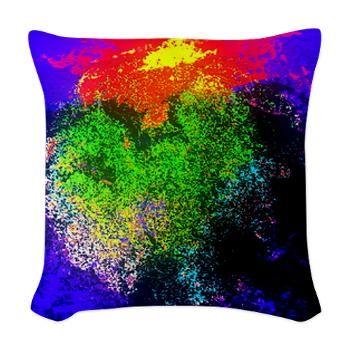 Blooming nebula Woven Throw Pillow