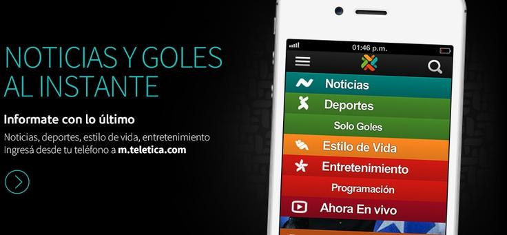 Infórmate con lo Ultimo.  Noticias, Deportes, Entretenimiento Estilo de Vida ingresá tu Teléfono desde un m.teletica.com