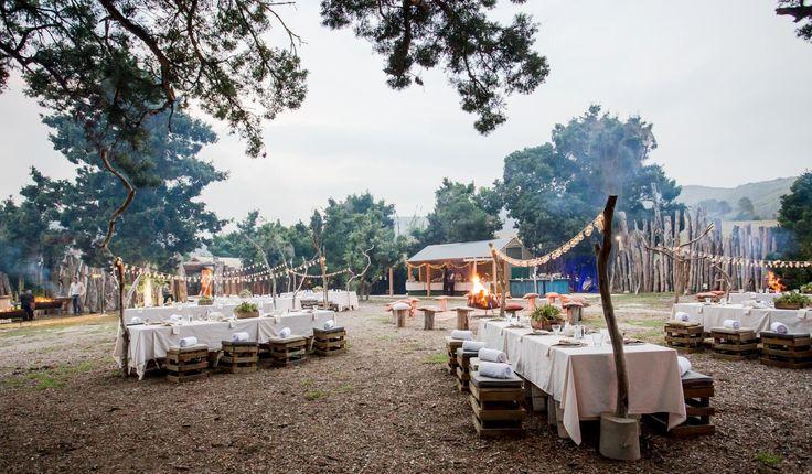 Outdoor dinner at Botlierskop