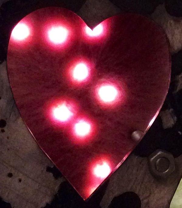 Tania Holland sculpture heart fairy light detail