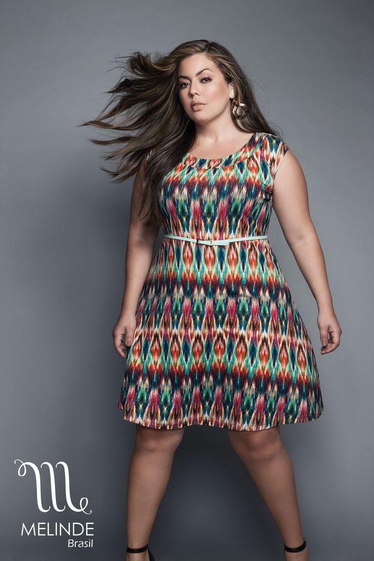 Verão 2016 Melinde com a modelo Fluvia Lacerda pelas lentes de Danilo Borges. Modelagem descomplicada em vestidos, camisas, saias e calças Plus Size.