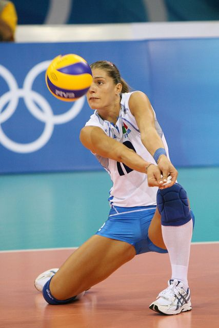 Francesca Piccinini , Italian volleyball player, volley ball is also a good sport for anaerobic!