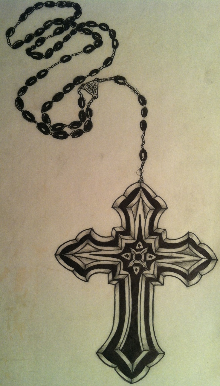 cross and rosery beads my tattoo designs pinterest beads and crosses. Black Bedroom Furniture Sets. Home Design Ideas