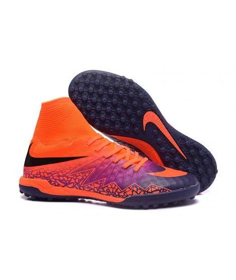 Nike Hypervenom Phantom II TF NA UMĚLÝ POVRCH FLOODLIGHTS PACK Oranžový Nachový Modrý Kopačky