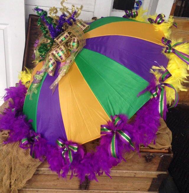 Mardi Gras Umbrella By Sa Jane S Gulfport Ms
