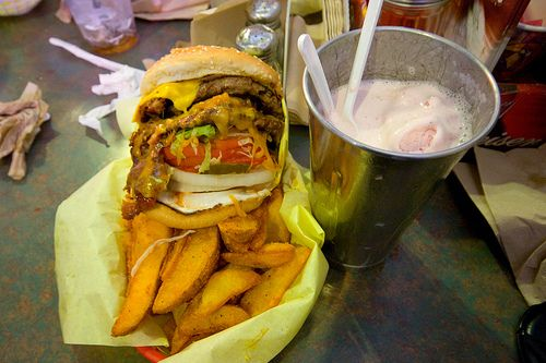 Miss Information:  Diners, Drive-ins and Dives Hodad's recipe for Bacon Cheeseburger