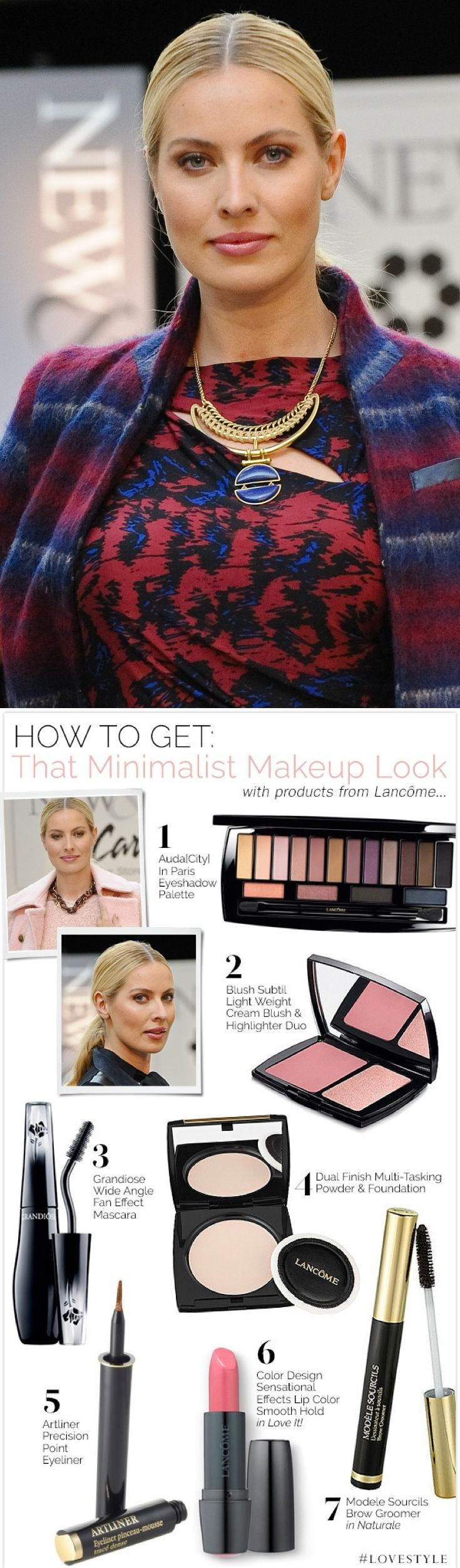How to get that minimalist makeup look with products from Lancôme.