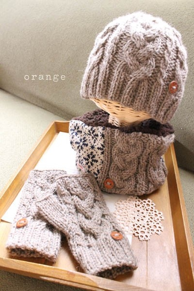 knit cap and warmers