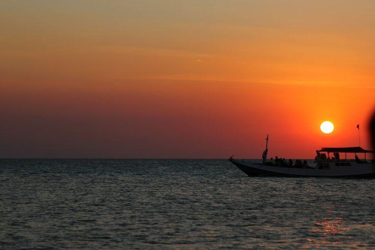 Beautiful sunset at karimunjawa  island