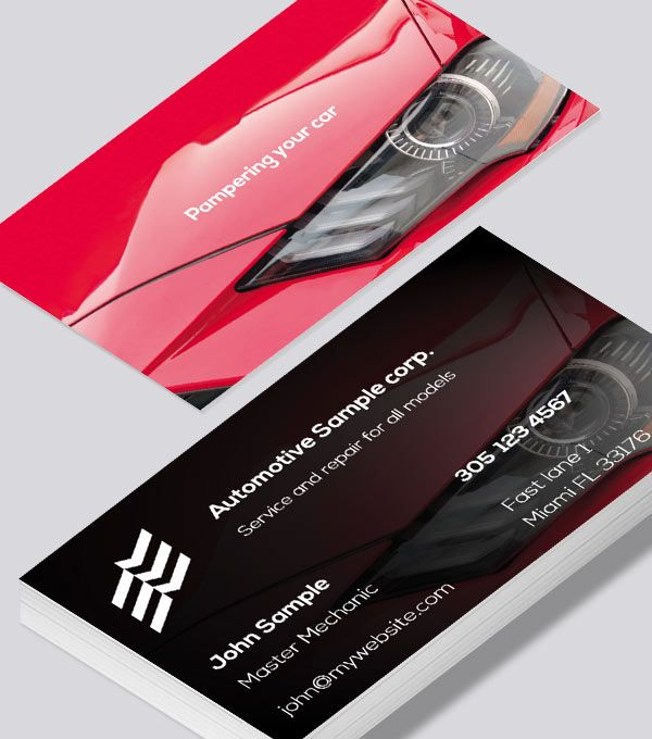 Modern Contemporary Business Card Design Pampering Your Auto Business Card Visiting Card Design Card Design Business Card Design