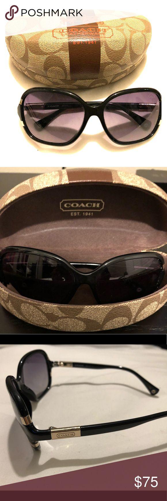 Coach sunglasses Black Coach sunglasses like new. In great condition with original case. Coach Accessories Sunglasses