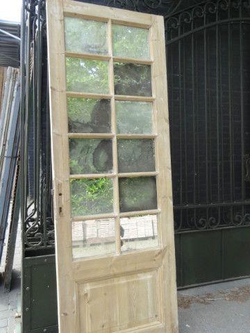 antieke-geloogde-blank-grenen-houten-spiegel-deur-ruitjes