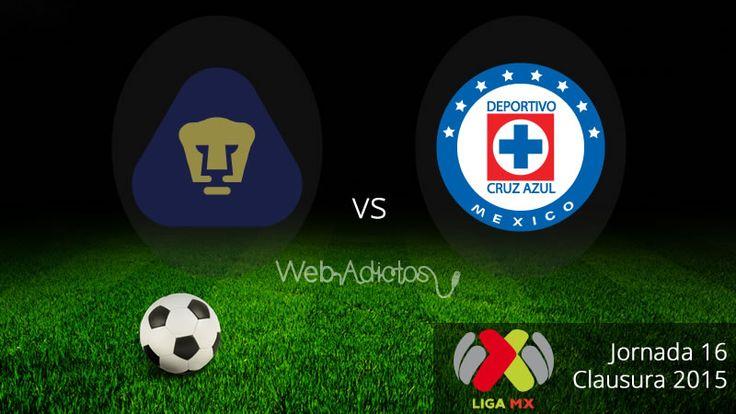 Pumas vs Cruz Azul, Clausura 2015 Liga MX ¡En vivo! - http://webadictos.com/2015/05/03/pumas-vs-cruz-azul-clausura-2015/?utm_source=PN&utm_medium=Pinterest&utm_campaign=PN%2Bposts